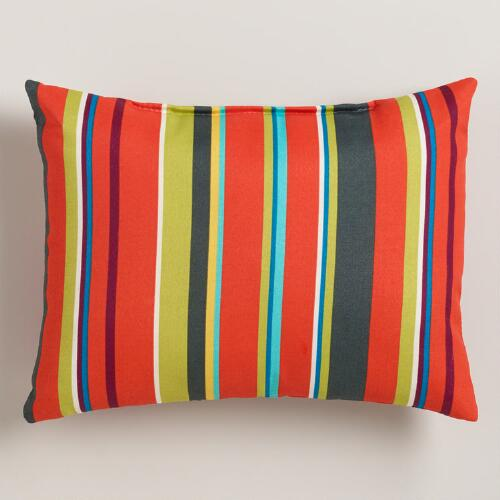 Harbor Stripe Outdoor Lumbar Pillow