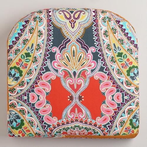 Warm Venice Paisley Gusseted Outdoor Chair Pad
