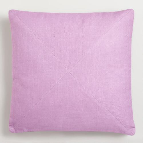 Violet Cotton Herringbone Throw Pillow