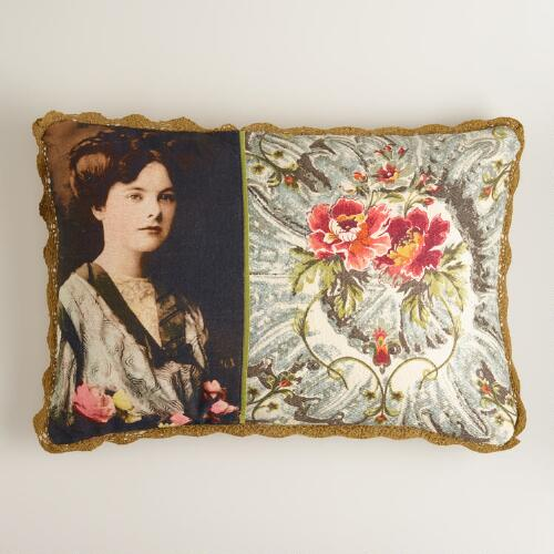 Victorian Photo Lumbar Pillow