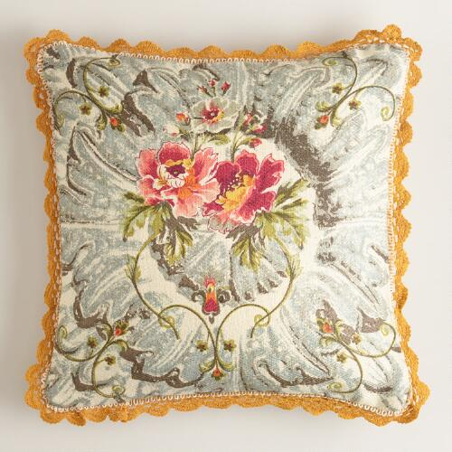 Victorian Print Throw Pillow