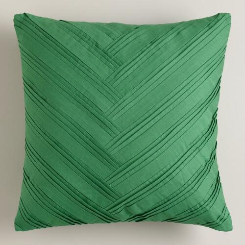 Green Origami Throw Pillow
