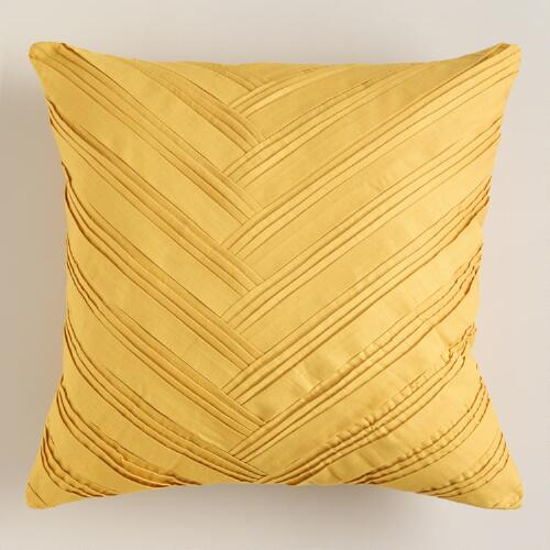 Yellow Origami Throw Pillow