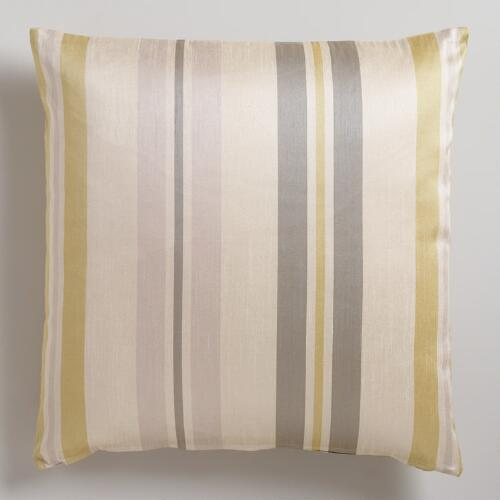 Green Victoria Stripe Throw Pillow