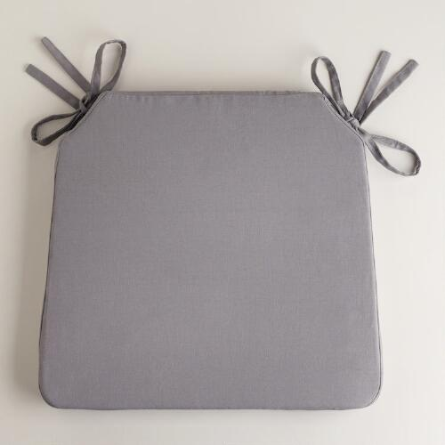 Tornado Gray Bistro Chair Cushion