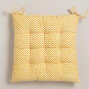 Yellow Chevron Chair Cushion