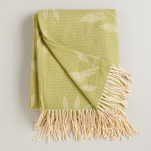 Avocado and Ivory Songbird Throw