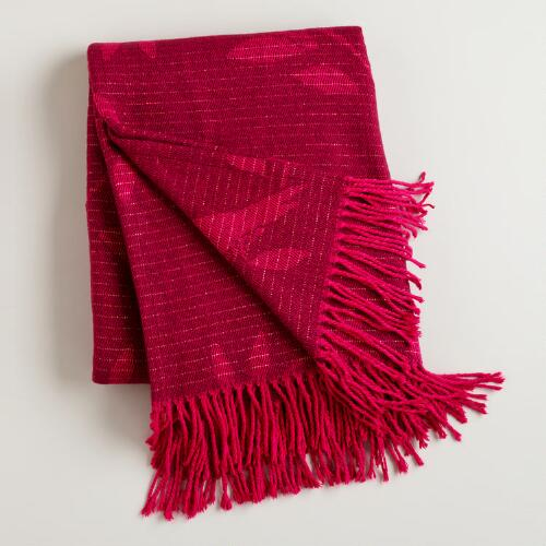 Burgundy and Cerise Songbird Throw