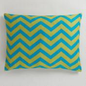 Blue and Green Chevron Pet Bed
