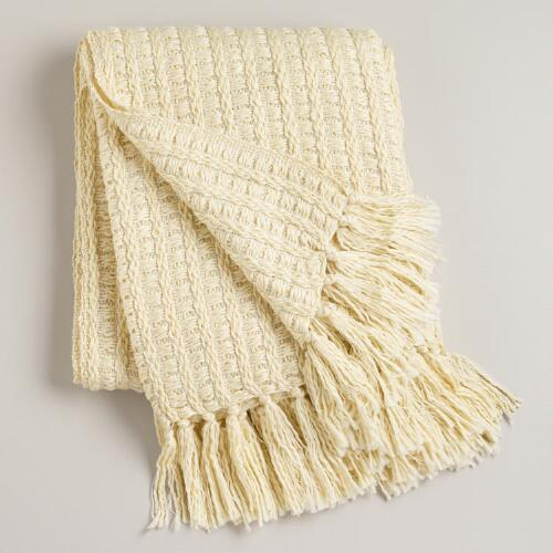 Ivory Loft Lurex Throw