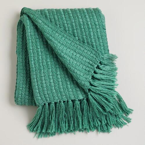 Beryl Green Loft Lurex Throw