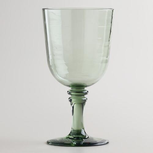 Green Acrylic Goblets, Set of 2