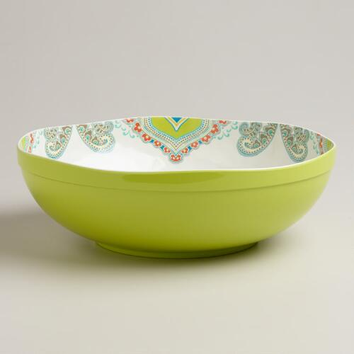 Cool-Toned Paisley Serve Bowl