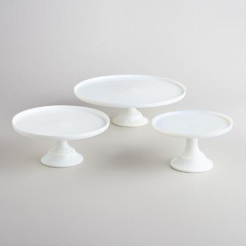 White Glass Cake Stands