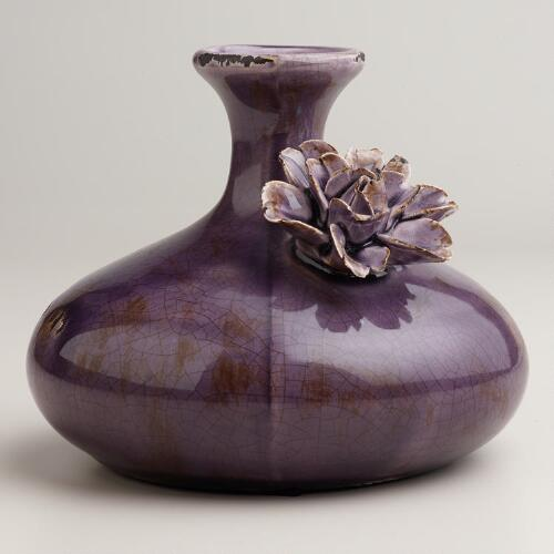Purple Flower Bud Vase