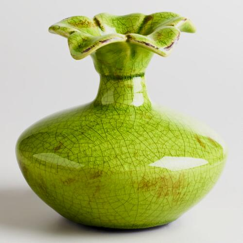 Green Flower Top Vase
