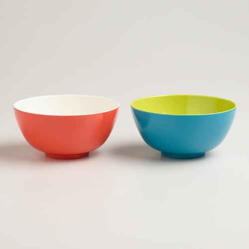 Two-Tone Bowls, Set of 2