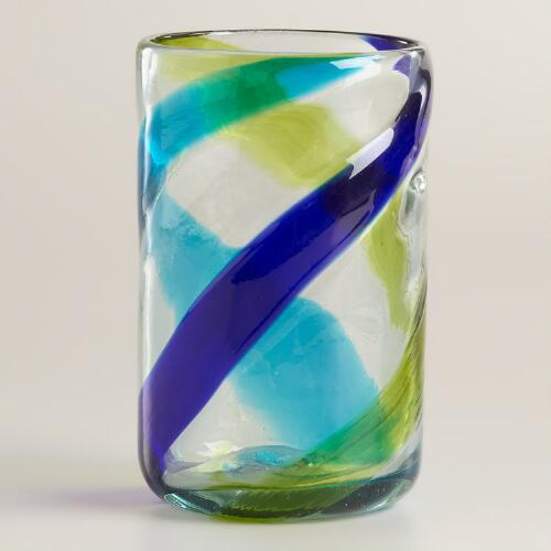 Cool-Toned Swirl Tumblers, Set of 2