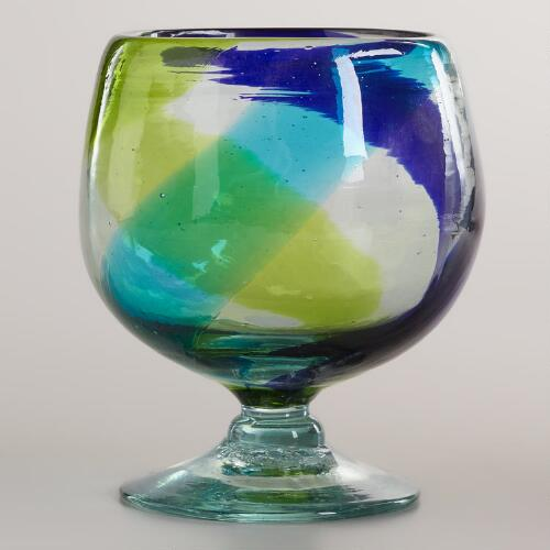 Cool-Toned Swirl All-Purpose Glasses, Set of 2