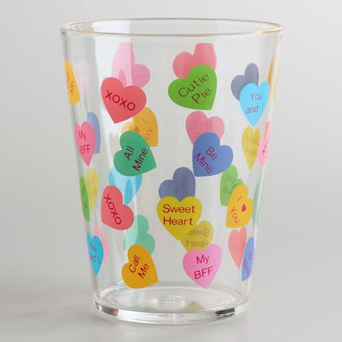 Conversation Hearts Tumblers, Set of 2