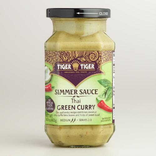 Tiger Tiger Green Curry Simmer Sauce, Set of 6