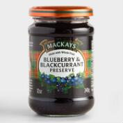 Mackays Blueberry and Blackcurrant Preserve, Set of 6