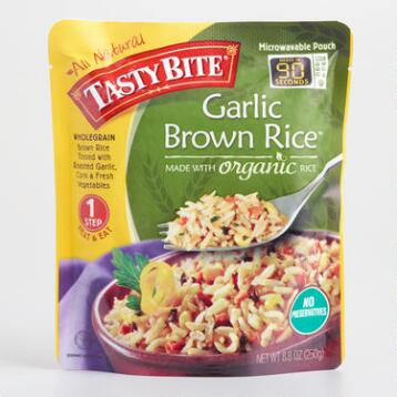 Tasty Bites Garlic Brown Rice, Set of 6