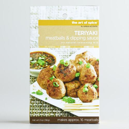 Art of Spice Teriyaki Meatballs and Dipping Sauce Mix