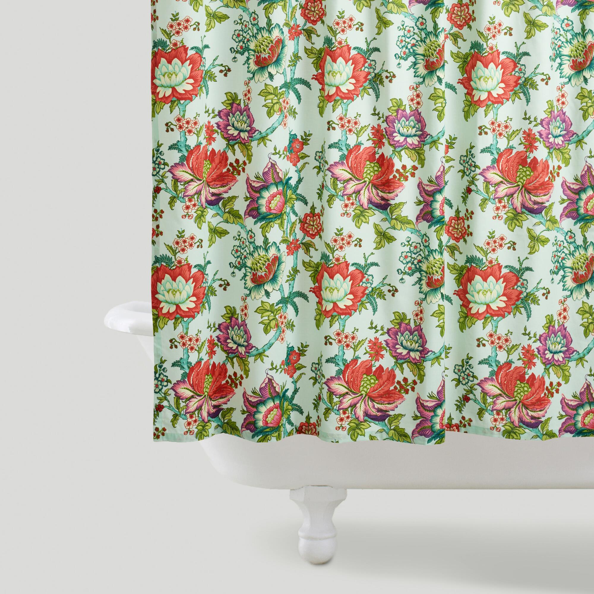 Victorian Floral Shower Curtain