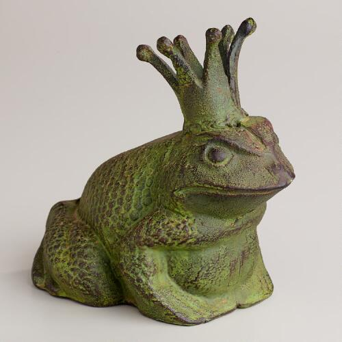 Cast Iron Frog Decor