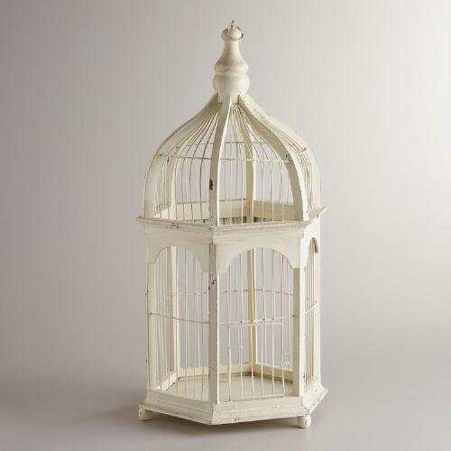 Ivory Antique Birdcage Decor