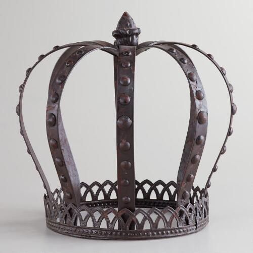 Large Metal King Crown