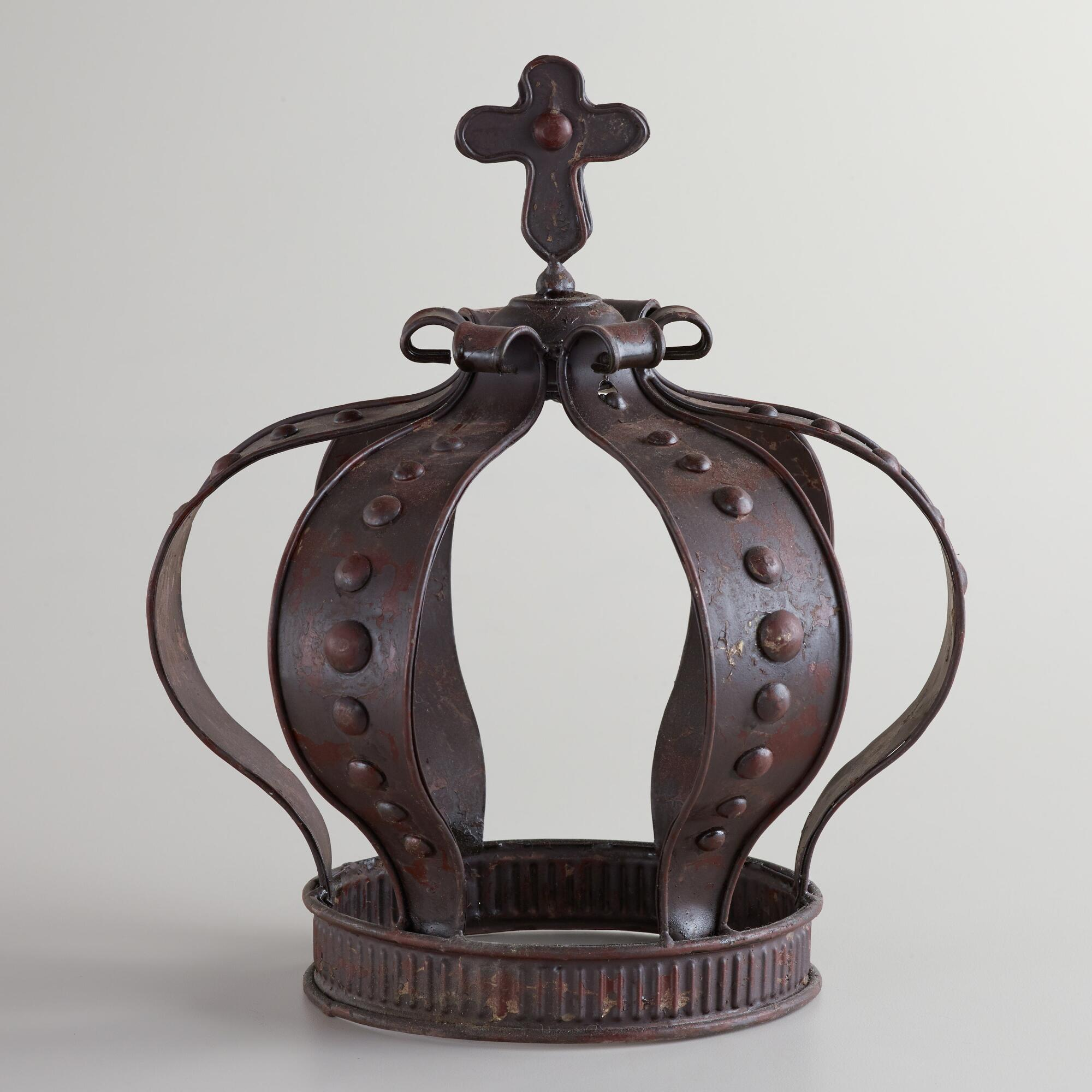 Large Metal Queen Crown Decor World Market