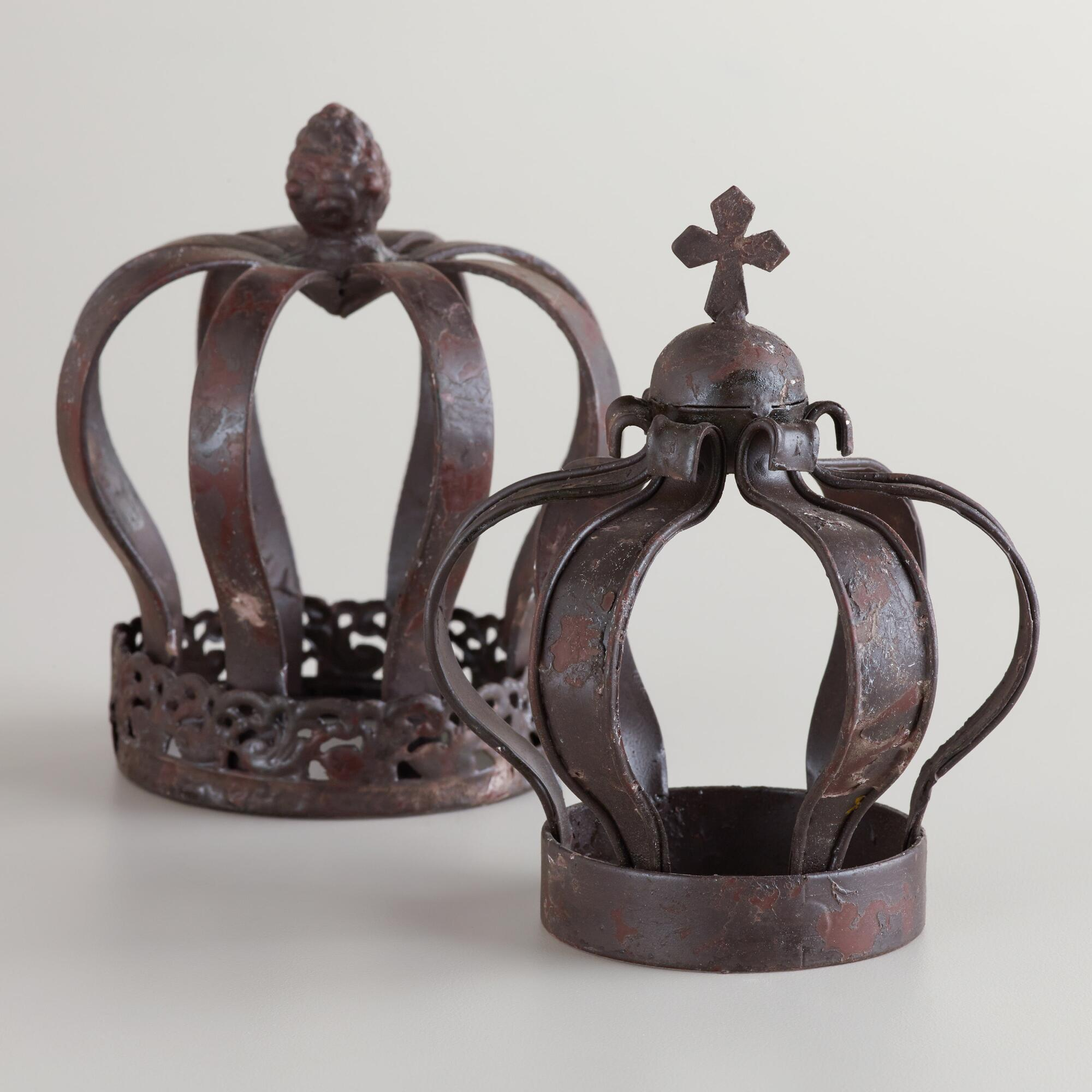 Small Metal Crown Decor Set Of 2 World Market
