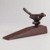 Cast Iron Bird Doorstop Wedge