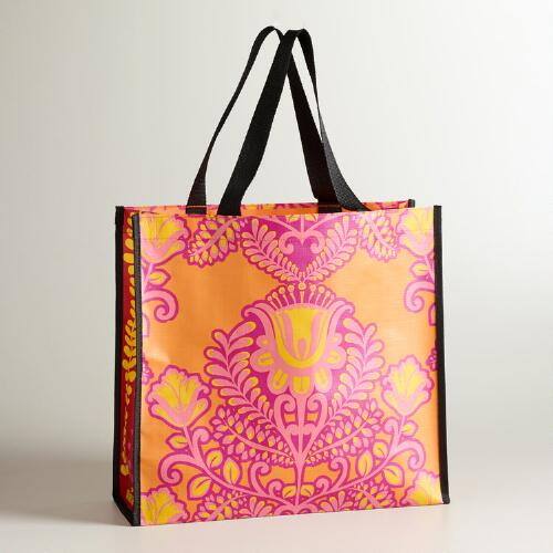 Orange and Pink Summer Goddess Tote
