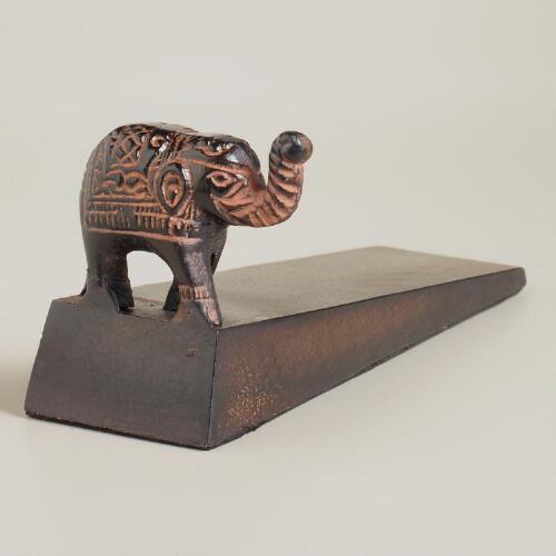 Elephant Metal Doorstopper