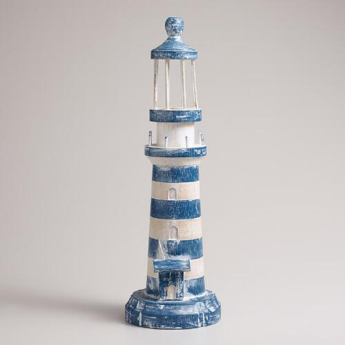 Wood Lighthouse Decor