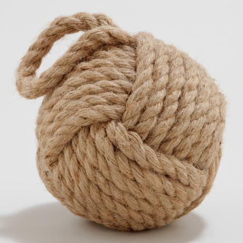 Hemp Robe Ball Doorstopper