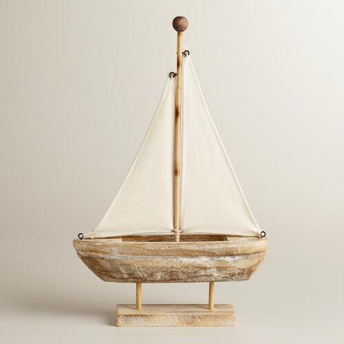 Small Wooden Sailing Boat