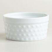 White Hobnail Ramekin, Set of 4