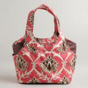 Coral Lotus Print Jane Lunch Bag