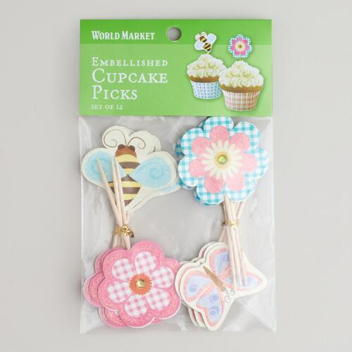 Embellished Garden Label Picks, Set of 12