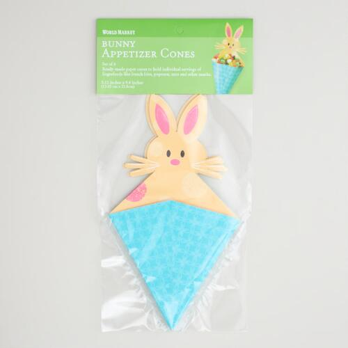 Bunny Appetizer Cones, Set of 6