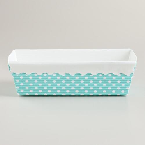 Aqua Dots Loaf Pans, Set of 6