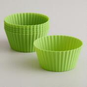 Large Green Silicone Muffin Cups