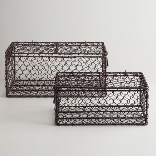 Rectangular Wire Ryan Baskets