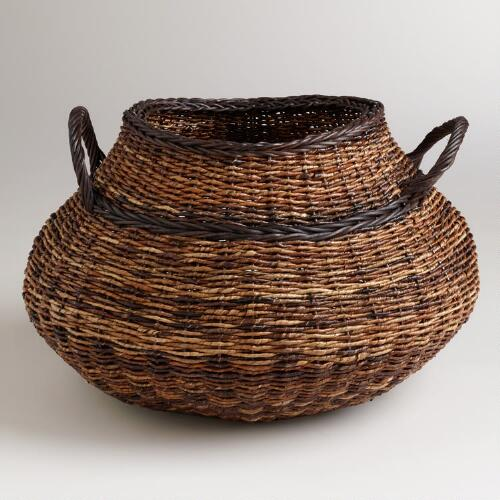 Round Madras Avery Basket
