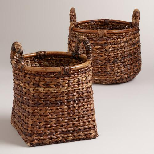 Braided Rattan Brittany Baskets