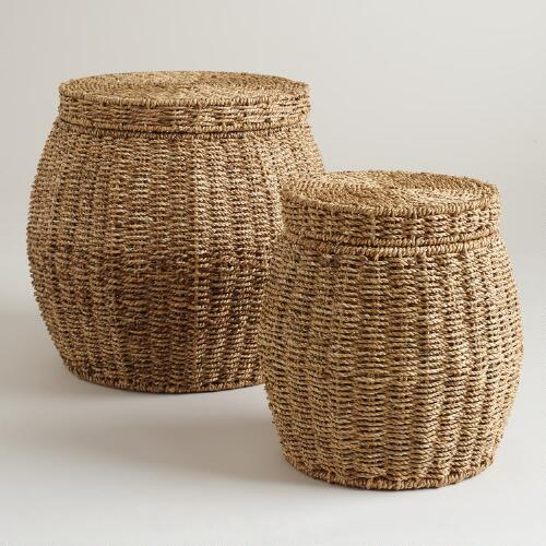 Round Janna Baskets with Lid